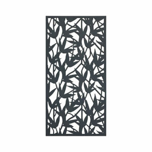 2 Bamboo Design Garden Screens Black Composite Wood Texture 2ft x 4ft