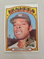 2021 Topps Heritage 1972 buyback 50th anniversary stamp Horace Clarke #387