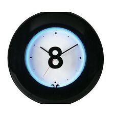 """19"""" Large 8 Ball Blue Neon Clock Wall Billiard Sports Clock New"""