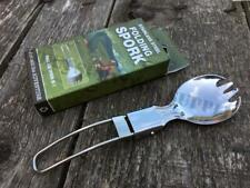 BCB STAINLESS STEEL COMPACT FOLDING SPORK - Camping Fork Spoon KFS Cutlery Set