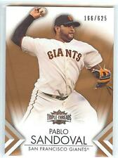 2012 Topps Triple Threads SEPIA #80 PABLO SANDOVAL #166/625 RARE! GIANTS !