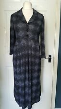 REBORN Black Grey Collar Dress Size 12/14 New With Tags