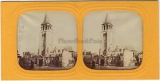 Saint-Germain-des-Prés Paris Photo Stereo Diorama Tissue Vintage albumine
