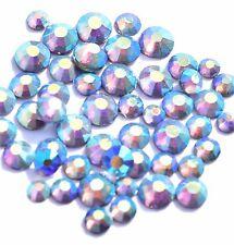100 Kristalle Glas Strasssteine Glitzer Steine Strass Nail Art SS4-SS12 Violett