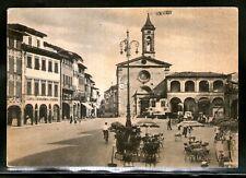 Cartolina Figline Valdarno Piazza Marsilio Ficino Firenze Animata Auto I565