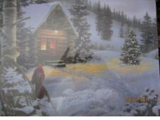 Leuchtbild mit Fotoprint auf Canvas  Motiv: Stillleben Hütte  6 LEDs