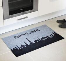 Fußmatte Kunstfaser Skyline grau Schmutzfangmatte Türmatte Läufer Abtreter Vorle