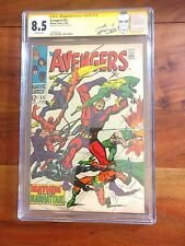 The Avengers #55 1968 1st Ultron CGC 8.5 Signed SS Stan Lee Label Rare!  VHTF!
