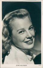 Postcard Actress June Allison Real Photo unposted