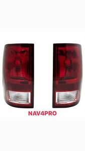 Brand New 2009-2018 Dodge Ram 1500 2500 3500 Red Simple Style Tail Light Pair