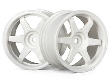 HPI 3840 TE37 RUOTA 26 mm Bianco (3 mm) Offset [1/10 Touring Car 26 mm ruote] Nuovo!