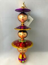Christopher Radko - Peking Maidens. Mouth Blown, Italian-Style. Made in Germany.
