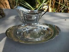 Wallace Sterling Silver Quincy Gravy Boat Bowl and Underplate Tray 212