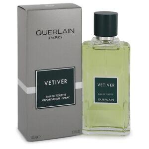 GUERLAIN VETIVER for MEN * 3.3/3.4 oz (100ml) EDT Spray * NEW in BOX & SEALED
