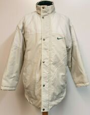 MENS VINTAGE NIKE STONE GREEN QUILT LINED PUFFER JACKET UK SMALL S 36-38