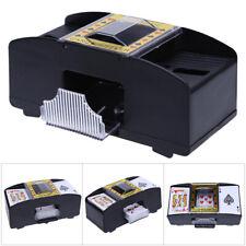 NEW AUTOMATIC PLAYING CARDS SHUFFLER POKER CASINO ONE/TWO DECK CARD SHUFFLE  B4