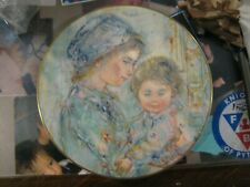 Edna Hibel plate Collette and Child 1973 Royal Doulton