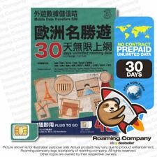 🚀 CANADA 30DAY UNLIMITED DATA Roger Prepaid Travel SIM CARD 5GB4G HOTSPOT EURO
