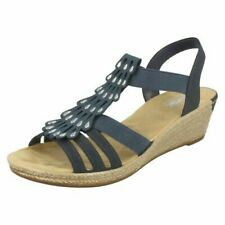 Ladies Rieker Wedge Heel Sandals '62436'