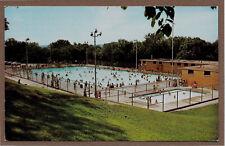 New Municipal Swimming Pool Longview Park Rock Island Illinois IL postcard