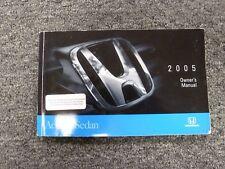 2005 Honda Accord Sedan Owner Owner's Manual User Guide Dx Lx Ex Ima 2.4L 3.0L