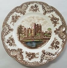 """JOHNSON BROTHERS china OLD BRITAIN CASTLES brown crown stamp Dinner Plate - 10"""""""