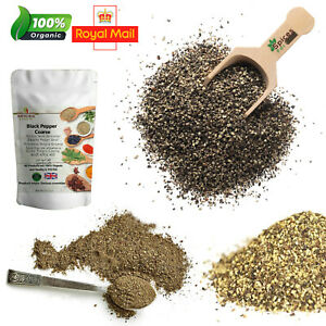 Black Pepper Coarse Freshly Ground 100% Pure Organic Indian Spices A-Grade 500g