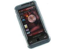 Two Piece Plastic Phone Design Cover Carbon Fiber For Samsung Omnia i910