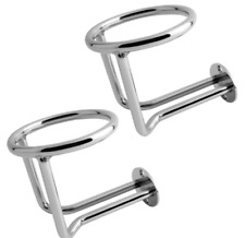 2X Boat Stainless Steel Ring Cup Holder Ringlike Drink Holder For Marine Yacht