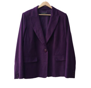 MARINA RINALDI Wool Angoral Blend Blazer Jacket Size 24 26 AU RRP $1299