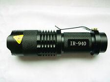 1 Stück Taschenlampe 940nm IR / Infrarot / IR /  Infrared /mit Zoomen / Neu