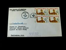 First Day Cover #1145 Block of 4, Signed by Scout on the Stamp, 1960, DC Cancel