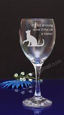 Personalised Cat engraved wine glass Birthday, Christmas Secret Santa gift16