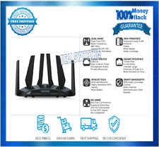 Dual Band WiFi Gaming Router Wide Coverage 1900 Mbps Smart Gigabit 3000 Sq Ft