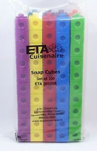 Learning Home School Cuisenaire Snap Cubes- Math Counting Set of 100 ETA 30500