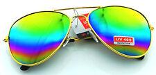 Unisex Vintage Retro Women Men Glasses Aviator Mirror Lens Sunglasses Fashion