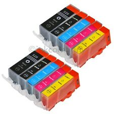 10 Tintenpatronen CANON + Chip PGI-520 CLI-521 MP 620 MP 630 NEU