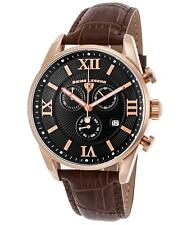 Swiss Legend 22011-RG-01-BRN Black Leather Strap Brown Dial Men's Quartz Watch