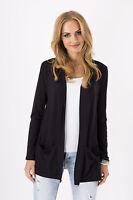Women's Jacket With Pockets Long Sleeve Blazer Cardigan Coat Sizes 8-18 8546