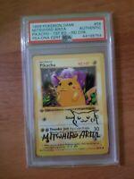 Pokemon 1st Edition Pikachu rote Wangen signiert Mitsuhiro Arita PSA Shadowless?