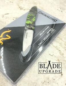 Browning EDC Green Drop Point Linerlock Folding Pocket Knife 0249