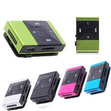 5 Color Mini USB Clip Digital Sport Mp3 Music Player Support 8GB SD TF Card Mp3