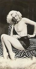 Org Vintage 1940s-50s Nude Sepia RP- Knock Out Blond- Takes Off Bra- Panties