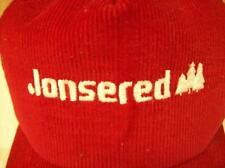 Vintage 1980's Red Jonsered Chainsaw Baseball Hat Corduroy with Embroidered Logo