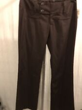 Maurices Pants 7/8 Boot Cut Brown Polyester Stretch New 191124