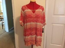 Inc International Concepts Plus Size Red Mixed-Stitch Top - Size 3X - NWT