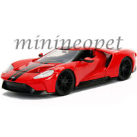 JADA 99391 BIGTIME MUSCLE 2017 FORD GT 1/24 DIECAST RED with BLACK STRIPES