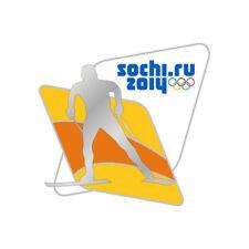 Sochi 2014 XXII Winter Olympic Games Pin Badge CROSS COUNTRY SKIING 2 Korea 2018