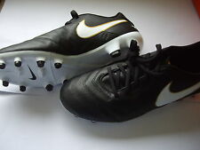 NIKE TIEMPO GENIO 11 MENS LEATHER BLACK FOOTBALL BOOTS UK 8  EUR 42.5