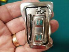 Golfers Bolo Tie Custom design, Sterling & Turquoise,